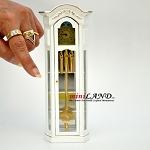 Working Dollhouse Miniature Grandfather Clock white V4010C-GPB 1:12 scale
